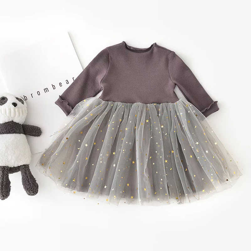 83a75da3ee Winter Baby Girl Clothing Long Sleeve Girls Dress Sequins Stars Tutu Girls  Casual School Daily Wear