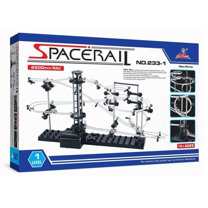 SpaceRail (#233-1) Beginner Level 1 SpaceWarp Kit Marble Run Toys Student's Building Blocks In Physics Teaching  Box Packing