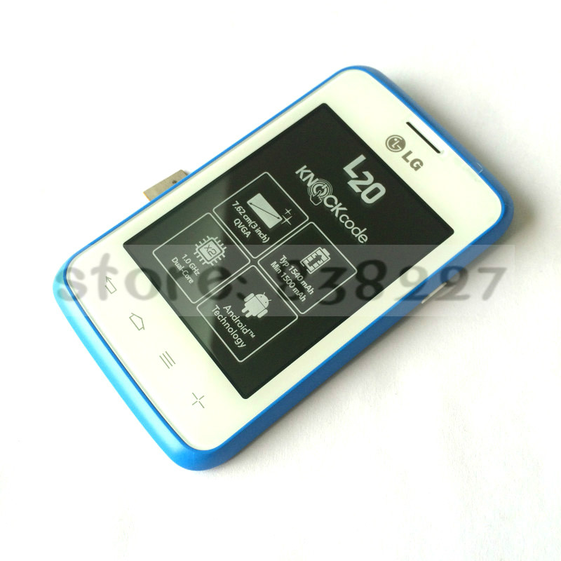 LCD Display + Touch Digitizer screen assembly For LG L20 D100 D100G with blue frame new panel free shipping