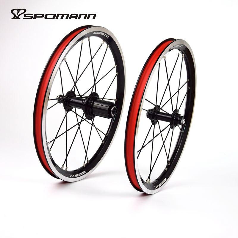 SPOMANN Ultraleicht Fahrradräder 16 Zoll BMX Laufradsatz 11 geschwindigkeiten Faltrad Rad V Bremse Fahrrad Radsätze Fahrradteile