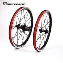 SPOMANN Ultralight Bicycle Wheels 16 Inch BMX Wheelset 11 speeds Folding Bike Wheel V Brake Bicycle Wheel Sets Bicycle Parts
