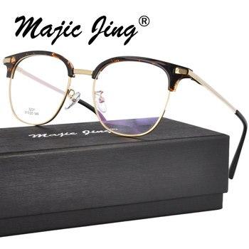 869cfcb733 Monturas ópticas RX de acero inoxidable Magic Jing TR 90Y gafas redondas de  miopía con borde completo 3231