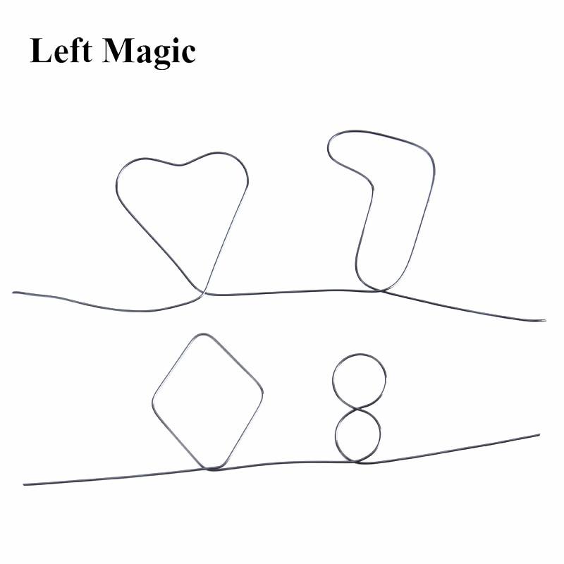 Nitinol Shape Metal Memory Wire Fire Magic Tricks Sihir Memory Prediction Hearts 7 & 8 Magic Props Illusion