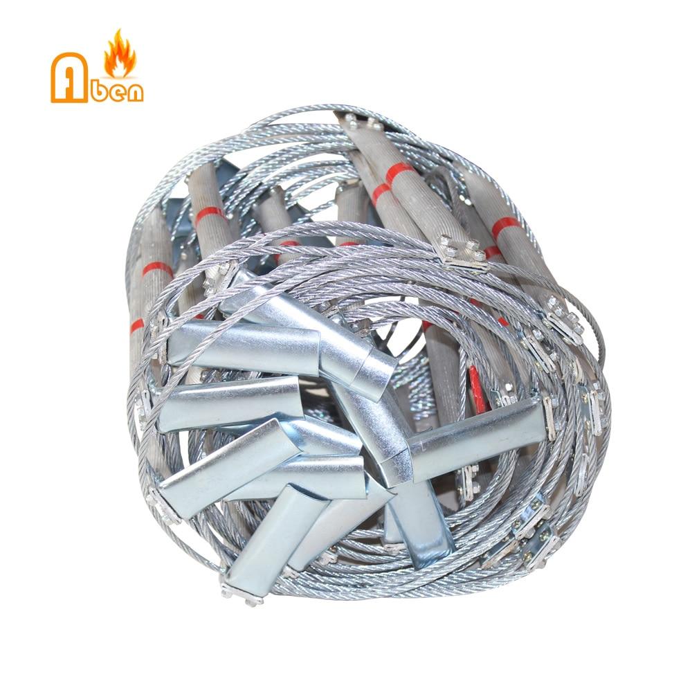 Заводская 10 метровая складная алюминиевая лестница для пожарной побега