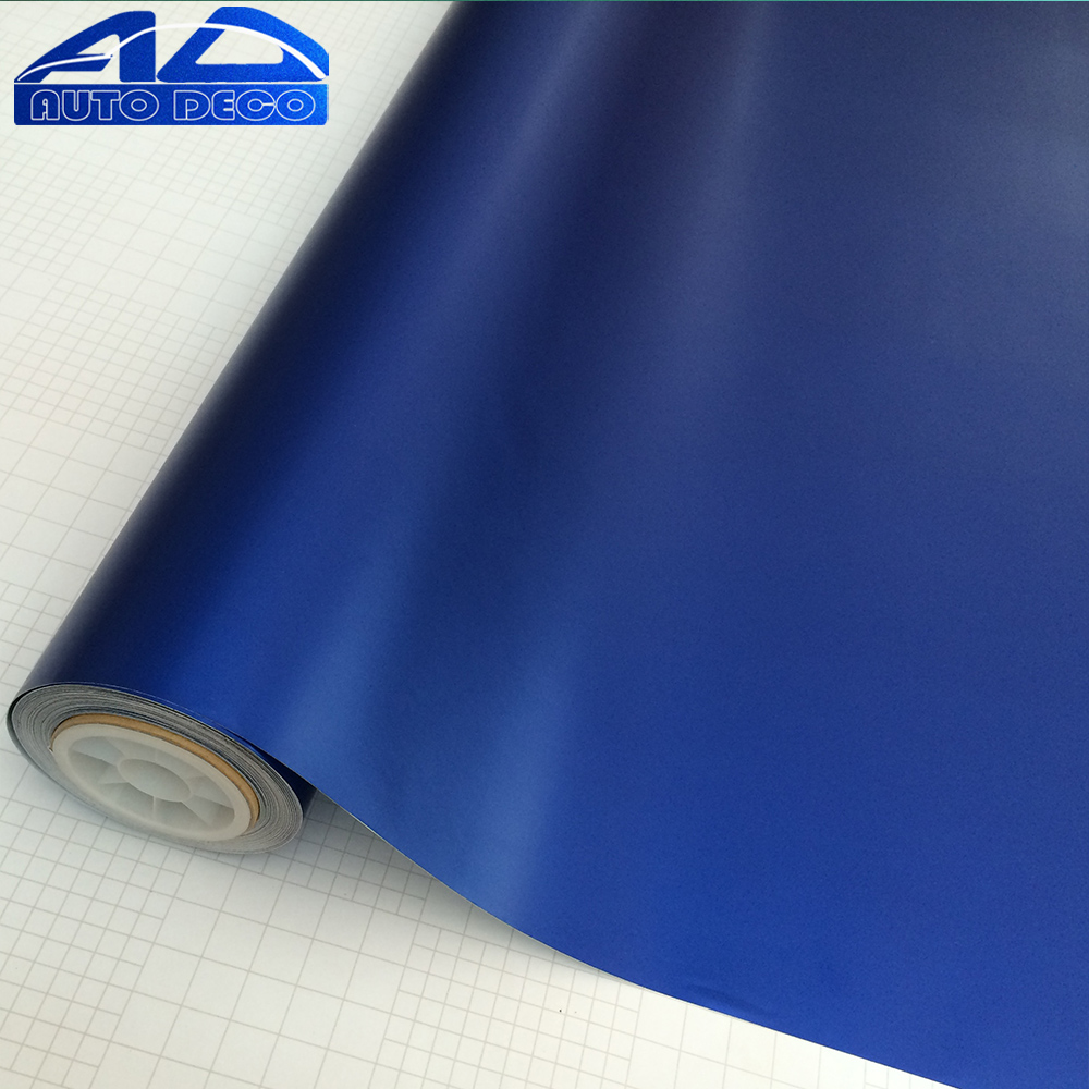 Wholesale Matte Chrome Vinyl Film Blue Car Sticker Cover Wrap Film With Air Bubble Free FedEx Free Shipping 20m/roll quality guarantee silver chrome vinyl film for car wrapping sticker with air bubble free 20m roll