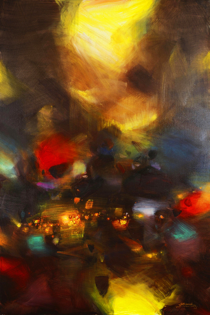 Paysage Abastract Art Contemporain Peintures Abstraites Chef D