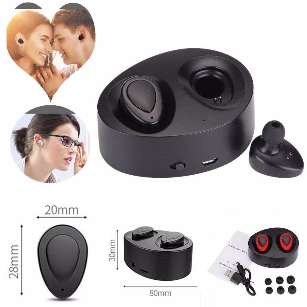 bilder für Mini TWS Twins Wahre Wireless Bluetooth Kopfhörer Stereo Headset In-ear-ohrhörer Ohrhörer mit Mikrofon Für Iphone Xiaomi