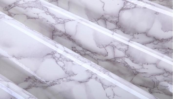 Szary Marmur Wodoodporna Vinyl samoprzylepne Tapety Naklejki Nowoczesne Kontakt Papier Kuchenny Blat Półki Szuflady Liniowej DIY 3D 2