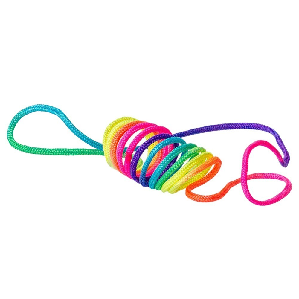 The Age Old Game Of The Finger Twist String Rainbow Coloured Rope Chain  With Children
