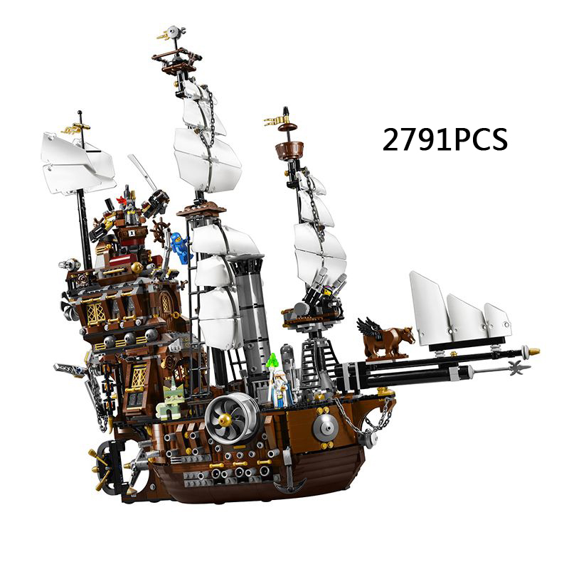 2017 Hot movie MetalBeard sea cow ship Pirates building block 2791pcs Crew Emmet mech robot compatible 70810 toy телевизор sony kdl 55wd655 black