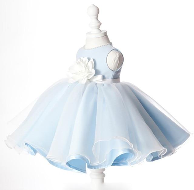 fe2eb23fbe5 Elegant Light Blue Lace Flower Girl Dress Flower Pageant Wedding Dress  Little Girl Elegant Formal Teenagers Girls Party Dresses