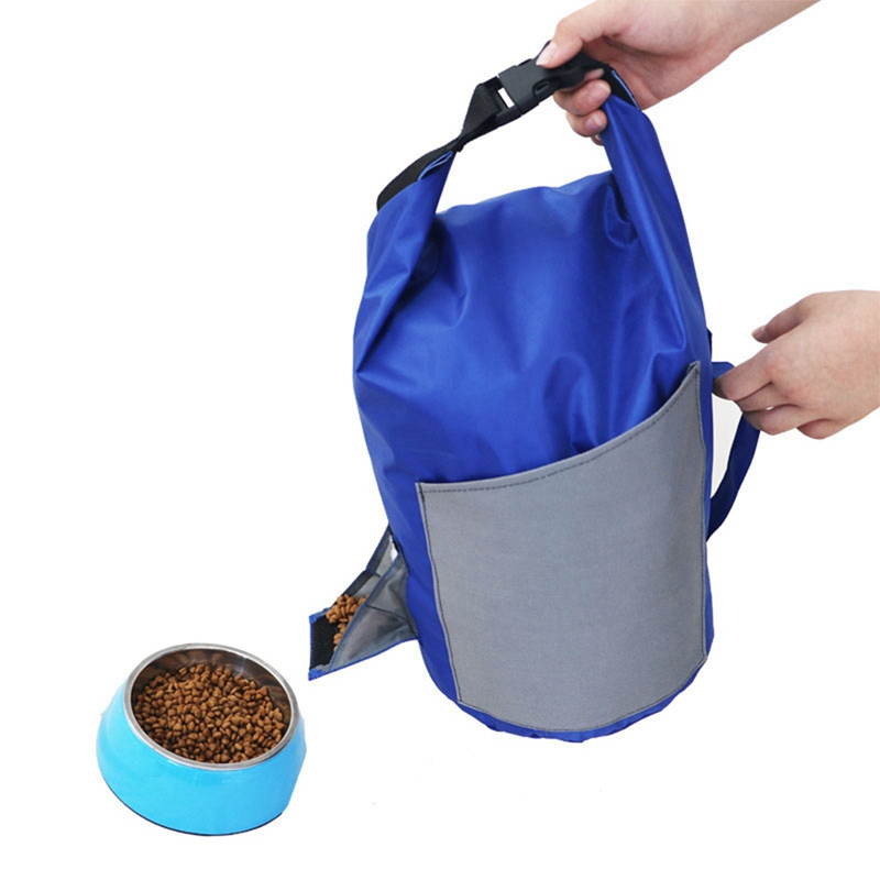 Food Storage Containers Bag 10L Waterproof Travel Dog Food Containing Bag Barrel Portable Collapse Pet