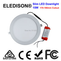 6 Inch Retrofit LED Down Light 15W Cutout 170 180mm Embeded Ceiling Downlight Slim Fitting For