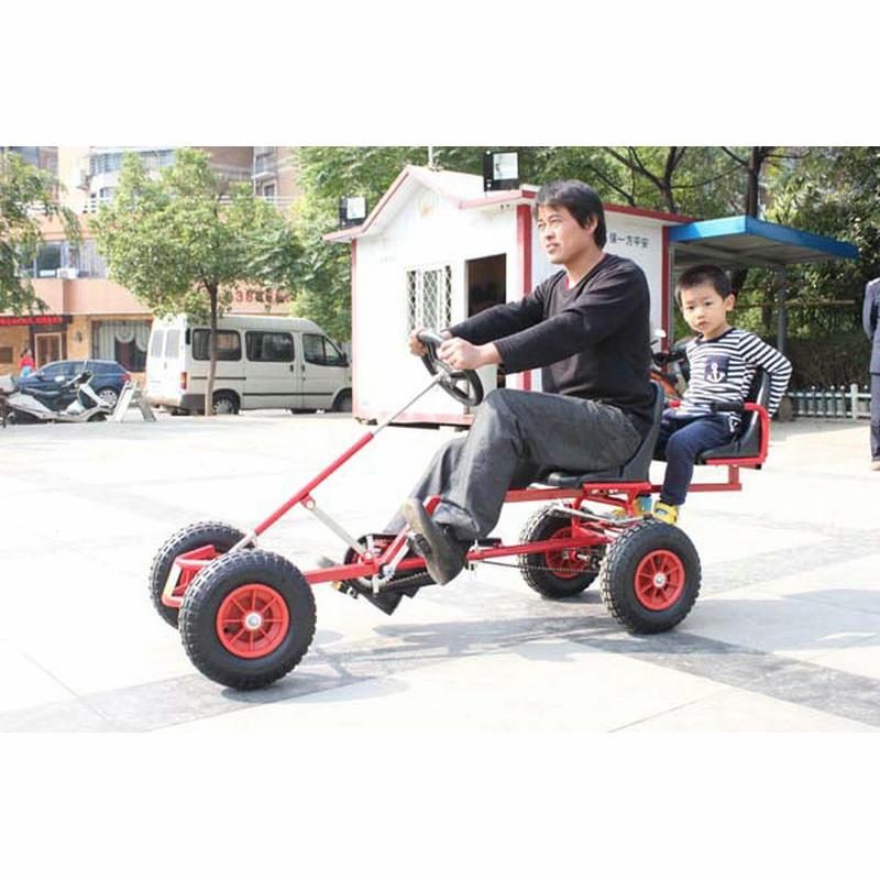 2 siège Go Kart peut transporter un enfant passager, karts adultes avec frein à main, amusement en plein air Parent-enfants aller Kart