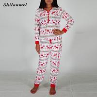 2017 New Fashion Matching Christmas Pajamas Set Women Warm Winter Nightwear Long Sleeve Couple Pyjama Sleepwear