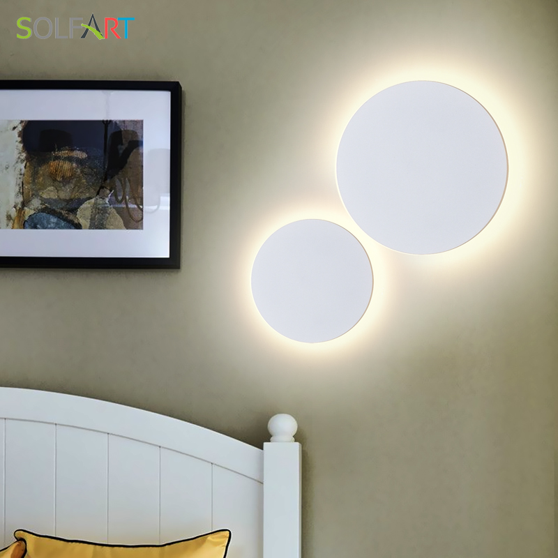 SOLFART Wall light Lamp LED fixtures Round Waterproof Outdoor Lighting and Indoor Wall Light Bedroom Living AC85-265V 8663/1 pcs 6w 1 new product 2pcs lot ac 85 265v outdoor stone wall lighting led lamp hot sale led waterproof outdoor wall lamp