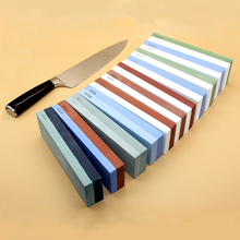 цена на NHM Kitchen knife sharpener 1000/3000 grit corundum whetstone oil stone honing stones grinding tool grindstone