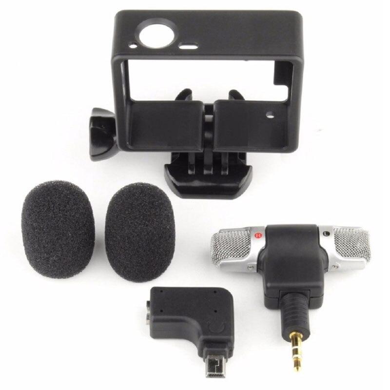 3,5mm mini mikrofon für gopro hero 4 3 + 3 mit rahmen fall Schraube ...