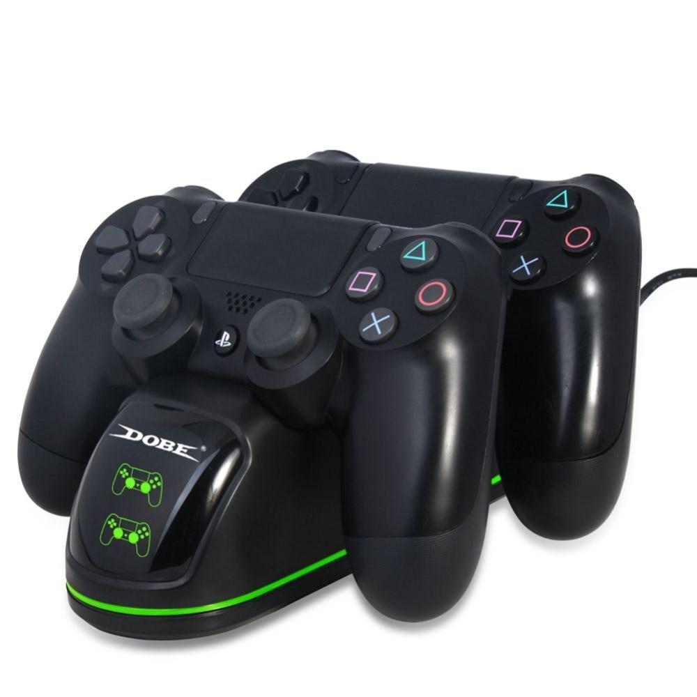 Para o Carregador Controlador PS4, carregador duplo com Tela de Exibição de Status De Carregamento para PlayStation 4/PS4 Magra/PS4 Pro Controlador