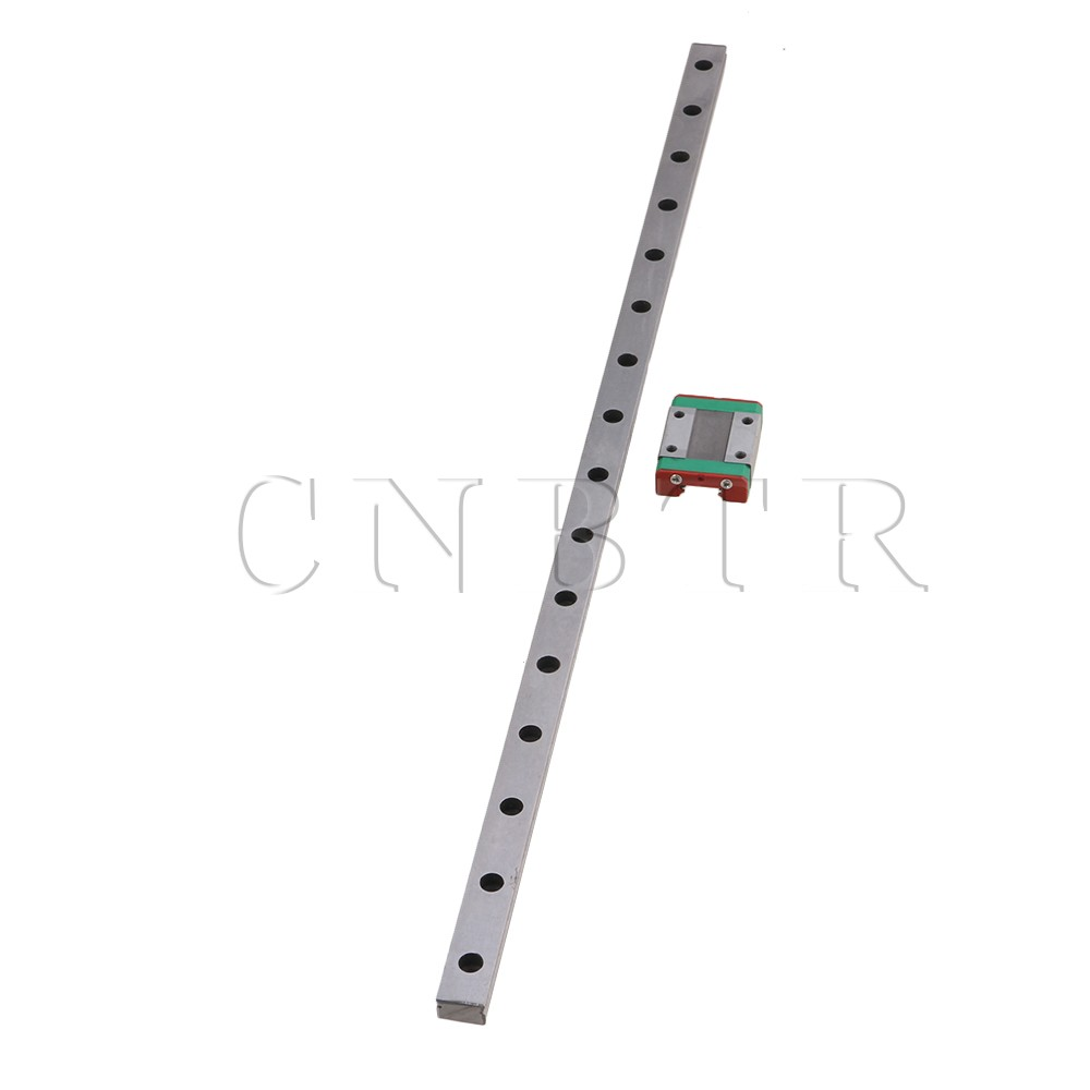 CNBTR 400mm Length Bearing Steel Linear Sliding Guide Slide Rails & MGN12 Linear Extension Block for CNC 3D Printer section three track rail drawer slide rails 3 row ball bearing linear guides thicker