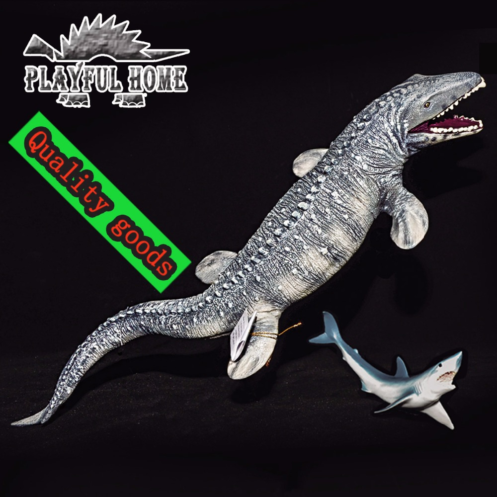 Large Good Mosasaurus Dinosaurs Model Soft Stuffed Mosasaurs Jurassic Ocean Sea Life Anime Animals Action Figures Toys For Kids