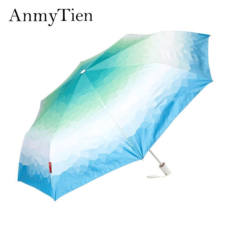 Filles Parapluie Pliant Uv Parasol Femme Femmes Coupe-Vent Fort Guarda Chuva Couleur Changeante Parapluie vêtements de Pluie Pour Le Soleil