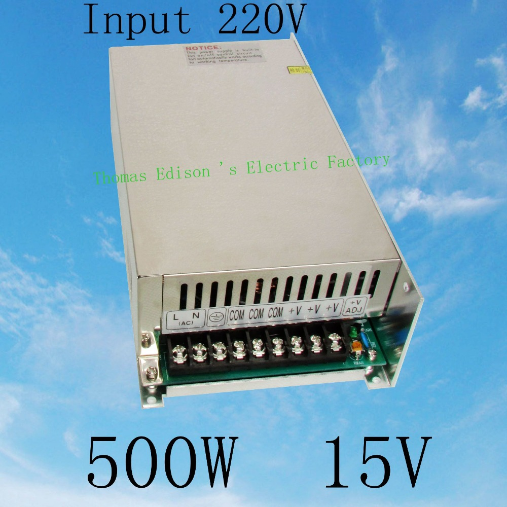DIANQI power suply 15v 500w input 220v ac to dc power supply ac dc converter  high quality led driver S-500-15 салатник фарфор вербилок белая лилия 1 1 л