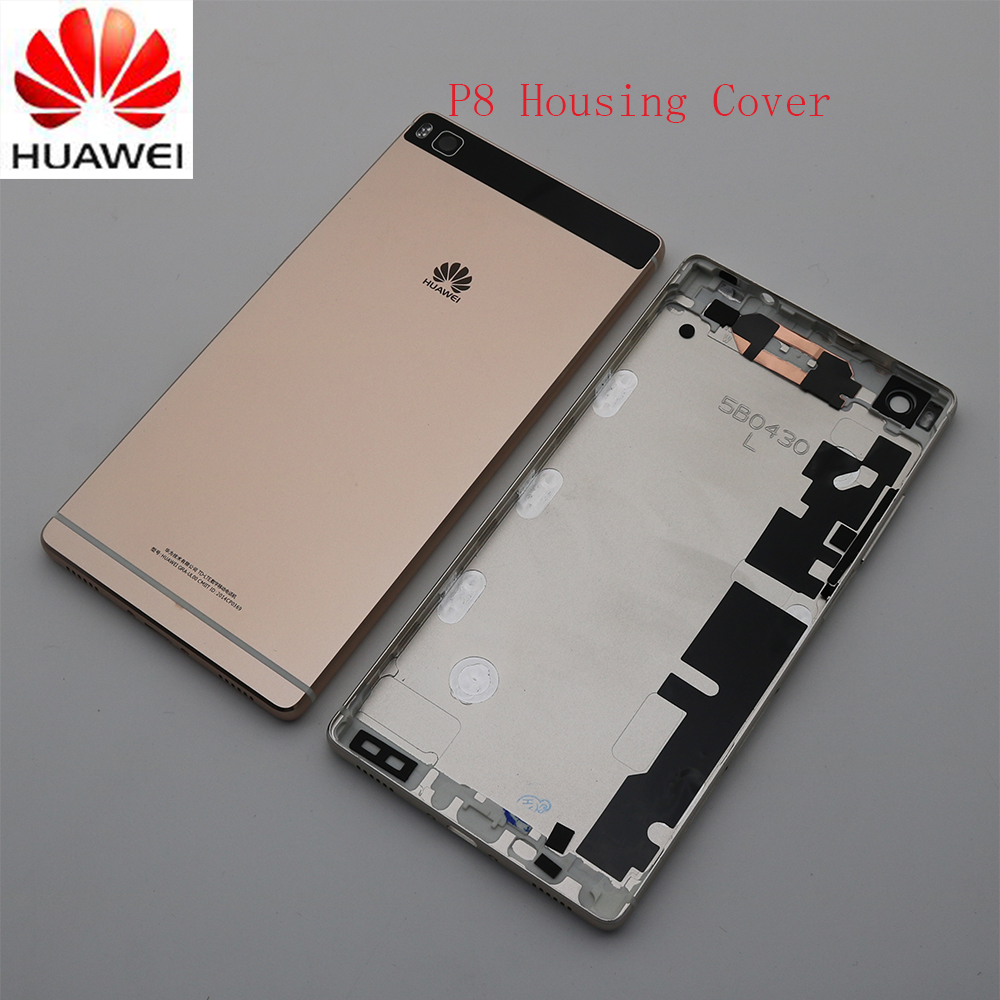 Original Aluminum Housing Cover for HUAWEI P8,Back Door Replacement Case,Press Key 3 Colors in Stock 5.2 inch