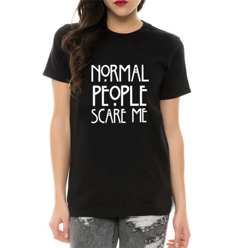 HTB15 GfzyOYBuNjSsD4q6zSkFXaP - Women Maroon T-shirt Cotton Normal People Scare Me Printed Funny Tshirt Women Short Sleeve Summer Tumblr Tops Camisetas Mujer