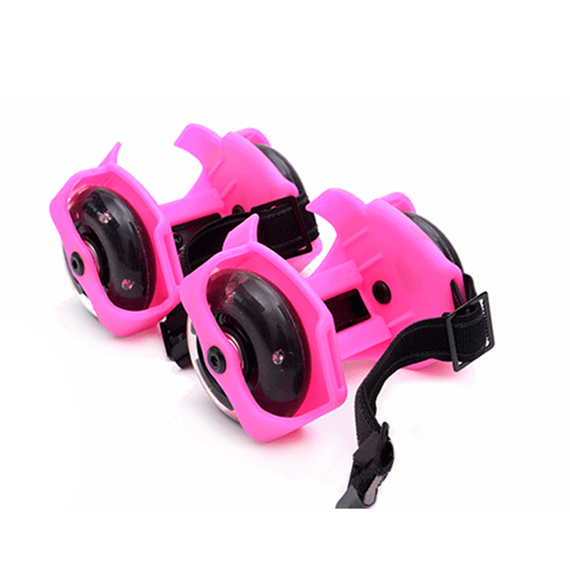 1 Pair Flashing Roller Skating Shoes Whirlwind Pulley Flash Wheel Heel Roller FH99