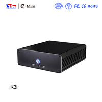 Realan K3i Silver Aluminum Mini PC Case CE ROHS ISO9001 Approved Certification Thickness 2 0mm Slim