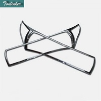 2 PCS DIY Car Styling NEW ABS Chrome Car Front Headlight Light Box Cover Case For