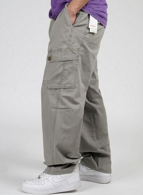 Большой размер XL 2XL 3XL 4XL 5XL 6XL мужская брюки-карго весной мужской хип-хоп широкий мужчины брюки брюки