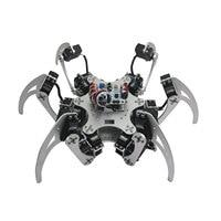 RC Toy 18DOF Aluminium Hexapod Spider Six Legs Robot With Servo Horn Ball Bearing For Arduino