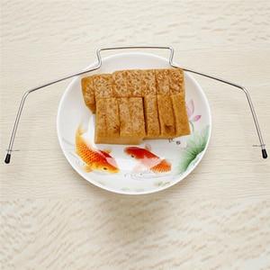 Image 2 - 10 inç kek dilimleme bıçağı DIY paslanmaz çelik çift hat ayarlanabilir tereyağı tereyağı ekmek kek kesici ev mutfak pişirme araçları
