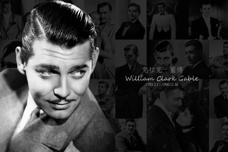 12 Sheets/LOT William Clark Gable Postcard  Classical Retro Black And White Vintage Postcard Gift