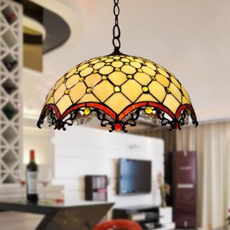 FUMAT Tiffany Stained Glass Pendant Lamp Bead White 12 16 Inch Shade hanging Kitchen Lights Fixture LED Chain European HanglampFUMAT Tiffany Stained Glass Pendant Lamp Bead White 12 16 Inch Shade hanging Kitchen Lights Fixture LED Chain European Hanglamp