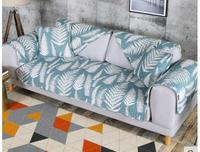 Combination Of The Sofa Cushion Simple Four Seasons Living Room Fabric Cotton Sets Towel Solid Wood