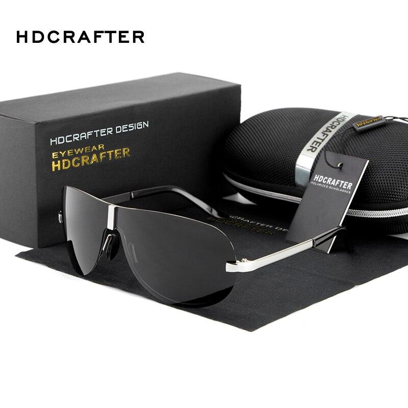 Vendita di liquidazione HDCRAFTER degli uomini Senza Montatura Occhiali Da Sole Lenti Polarizzate UV400 Occhiali Da Sole Maschili Occhiali Eyewears Accessori Per Gli Uomini