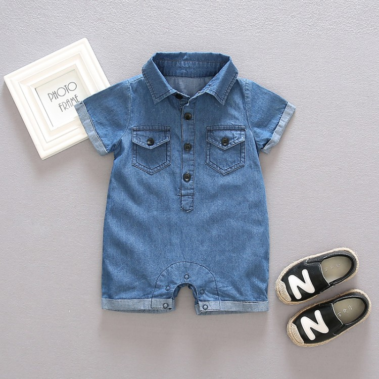 girls boys solid jumpsuits baby cotton short sleeve Rompers kinds jean garments baby clothing infant rompers mother nest 3sets lot wholesale autumn toddle girl long sleeve baby clothing one piece boys baby pajamas infant clothes rompers