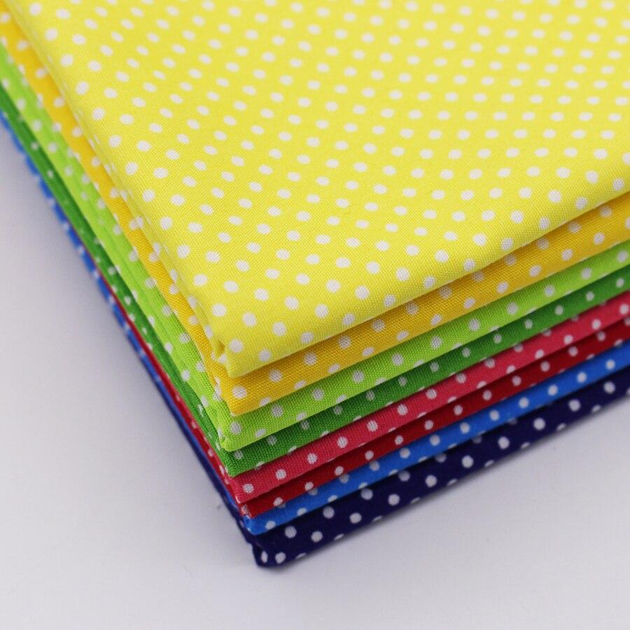 Многоцветный узор в горошек Хлопок Ткань Тильда Ткань S для пэчворка хлопчатобумажные ткани Домашний текстиль тканые telas Tecido хлопчатобумаж...