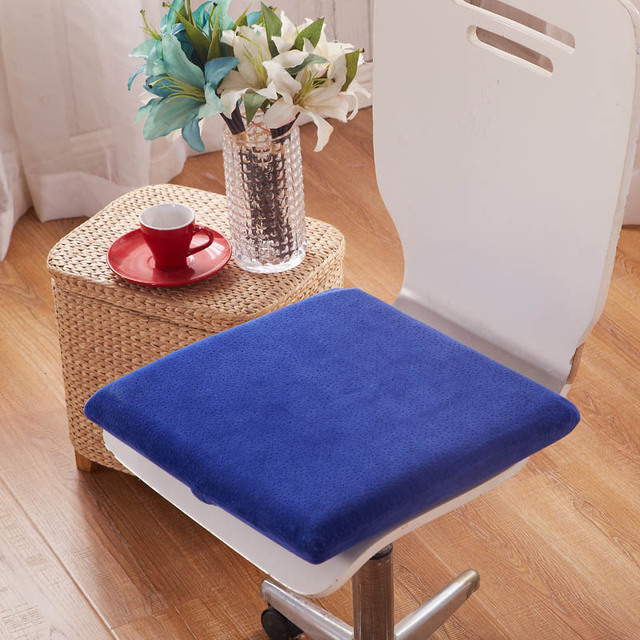 Velvet Memory Foam Cushion 40x40cm Simply Solid Color Home Decor Kitchen Dining Chair Seat Cushions Free