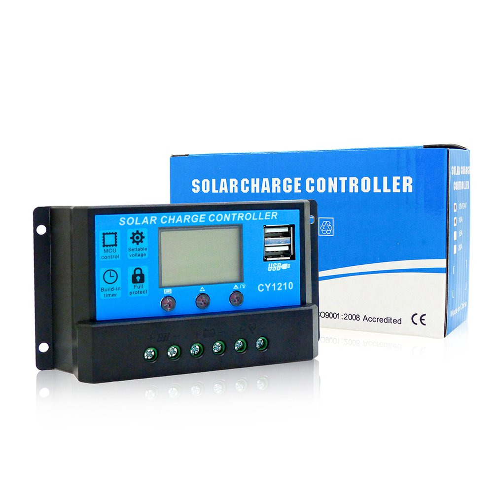 AT1026 Solar Controllers Automatic Tracking Equipment Charge Home Regulator LCD Display Protect BatteryAT1026 Solar Controllers Automatic Tracking Equipment Charge Home Regulator LCD Display Protect Battery
