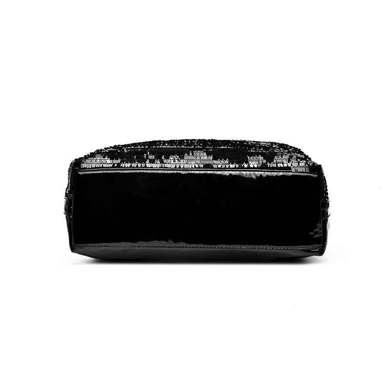 c8f6b2884 ... Black Patent Leather Bag Women 2018 New Bright Sequin Large Capacity  Handbag Lady Casual Hobo Crossbody