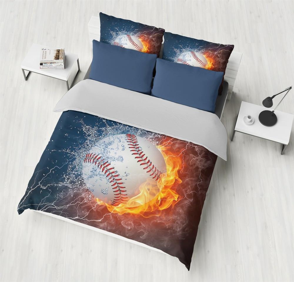 Bedding Sets 2/3pcs 3D Duvet Cover Bed Sheet Pillow Cases Size  Queen King Flame Baseball  Bedding Sets 2/3pcs 3D Duvet Cover Bed Sheet Pillow Cases Size  Queen King Flame Baseball