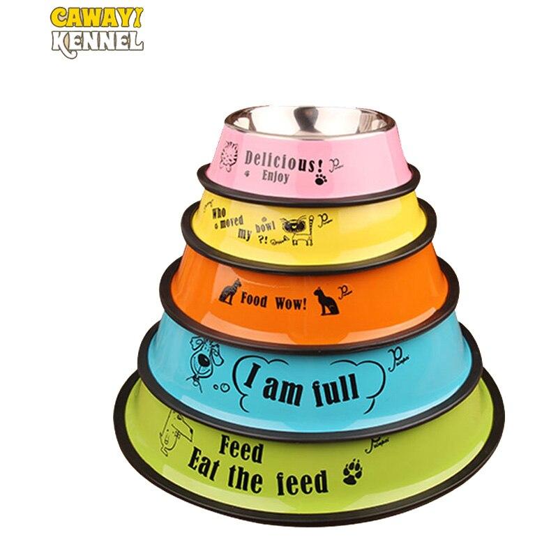 CAWAYI ZWINGER Edelstahl Einzigen Pet Schalen für Hund Welpen Katzen Lebensmittel Wasser Feeder Haustiere Liefert Fütterung Gerichte Hunde Schüssel d1367