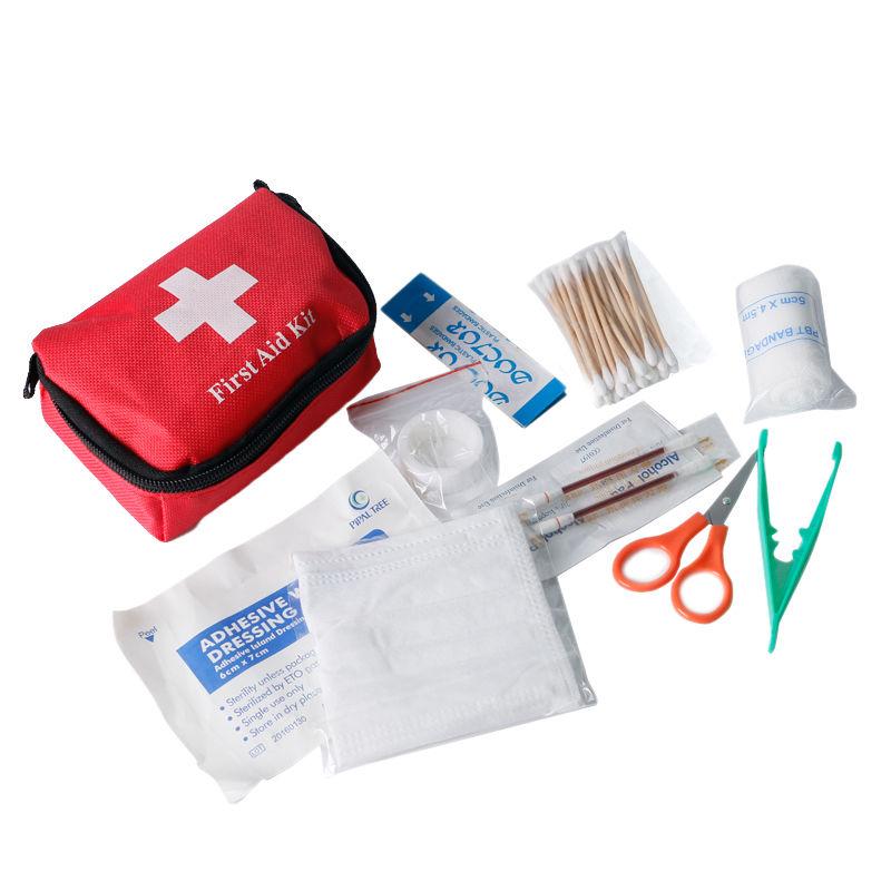 11pcs/set Medical Emergency Bag Survival First Aid Kits Sport Travel Kits Family Medicine Bag Outdoor Car Mini First Aid Tools