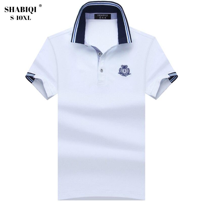 a8fdc58300 Más tamaño S 10XL nuevo Polo shirts hombres marca ropa moda polos sólidos  calidad masculino 100% algodón ocasional Polo de los hombres del verano  1708 en ...