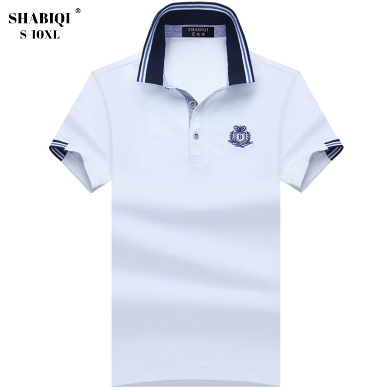 Plus Size S-10XL New   Polo   shirts men brand clothing fashion solid   polos   male quality 100% cotton casual summer men   Polo   1708