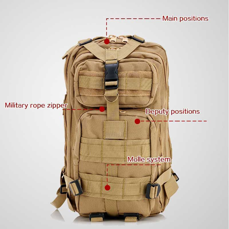 все цены на Hot Sale Outdoor Military Tactical Backpack 3P Camping Hiking Bag Trekking Sport Rucksacks Attack Travel Mountaineering Bags онлайн